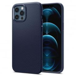 Spigen Liquid Air Navy Blue Etui do iPhone 12 / 12 Pro