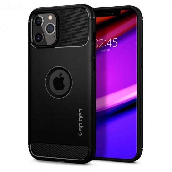 Spigen Rugged Armor Black Etui do iPhone 12 / 12 Pro